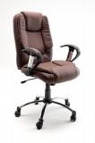 Fotel biurowy LEON brąz