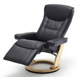 Rozkładany fotel telewizyjny VERMONT skóra czarna