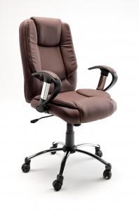 Fotel biurowy LEON: brąz, czarny, krem