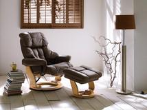Skórzany fotel telewizyjny GARY, skóra - przykładowa aranżacja