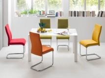 Stół szklany NANA 120cm + krzesła FINLAY