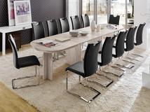 Stół rozkładany 160-320 cm SISI + krzesła KOLIN