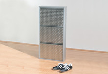 9273 - Kare Design Shoe Rack Caruso 3 Silver brushed