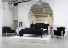 Łóżko MILAN z kryształkami
