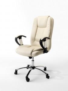 Fotel biurowy LEON krem