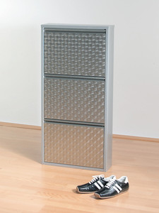 Kare Design Shoe Rack Caruso 3 Silver brushed
