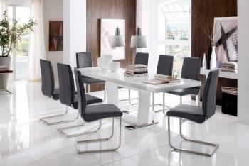 Stół rozkładany MILDRED + krzesła LATINO