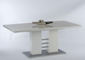 Biały lakierowany rozkładany stół