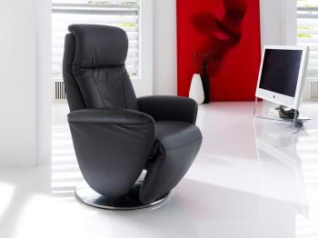 Fotel telewizyjny rozkładany PITER - skóra