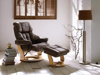 Skórzany fotel telewizyjny GARY