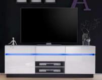 ALEOS szafka RTV, wysoki połysk LED