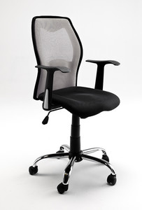 Fotel biurowy FLO szaro-czarny