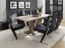 ADAM stół rozkładany   140-180 cm /dąb sonoma, krzesło ARTIST czarne