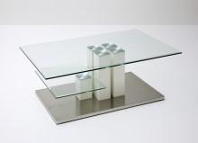 Szklany stolik kawowy AGNES