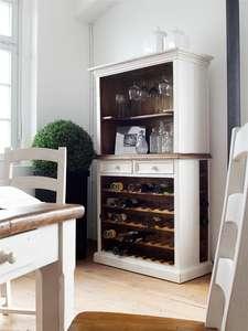 Regał MADIE z półkami na wino