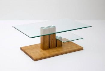Dębowy stolik kawowy HELENA