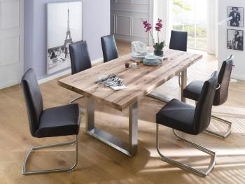 Stół CASTILO / dąb dziki + krzesła Krzesło Flash 1 ekoskóra